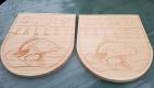 uithangbord, hout, douglas